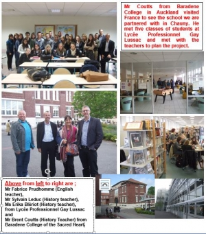Visit by our History teacher Mr Coutts to Lycée Professionnel Gay Lussac in Chauny, France